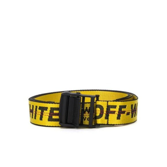 New Off-White Yellow Industrial Buckle Belt